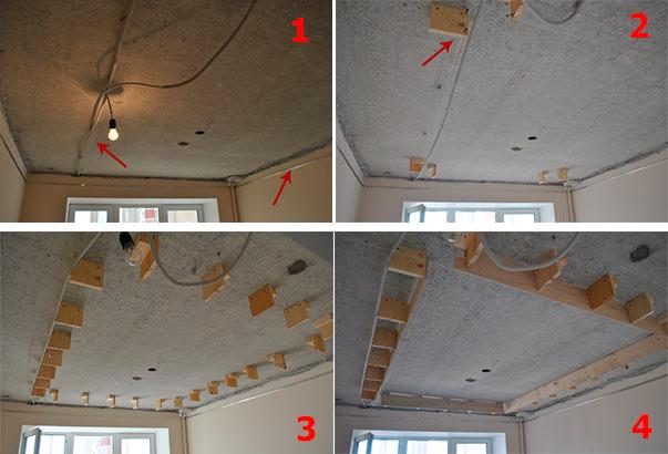 Как самим сделать двухуровневые потолки 177