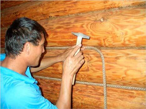 ремонт стен бани фото